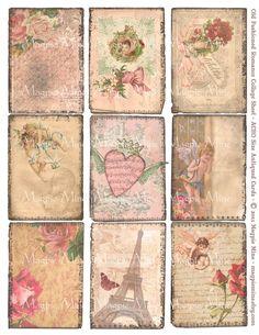 Vintage Valentine Collage Sheet by Etsy