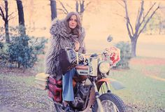 In the '70s, she became the first woman to ride a motorcycle around the world solo.