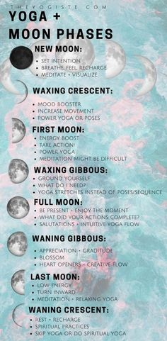How to flow with the energy Moon phases moon phase meaning moon rituals spiritual yoga yoga for beginners yoga practice yoga at home full moon rituals moon cycles astrolo. Yoga Flow, Yoga Meditation, Full Moon Meditation, Meditation Space, New Moon Rituals, Full Moon Ritual, Vinyasa Yoga, Bikram Yoga, Pilates Yoga