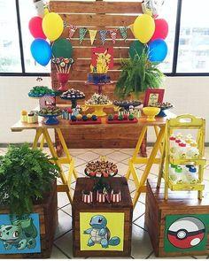 60 Ideias para festa Pokemon   Kikids Party Transformers Birthday Parties, Transformer Birthday, Cars Birthday Parties, Festa Pokemon Go, Pokemon Balloons, Pokemon Party Decorations, Festa Pj Masks, Party List, Bird Party