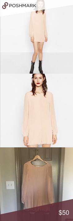 Zara mini pleated jumpsuit Short jumpsuit with bell sleeve Zara Pants Jumpsuits & Rompers