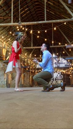 He asked her to marry him in the barn where they met, and it's so incredibly romantic!