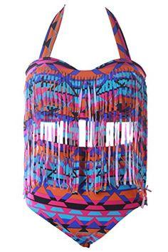 Pink Wind Women Plus Size Geometric Print Halter Tassel Bikini Tankini XXL Pink Wind http://www.amazon.com/dp/B00Z6HBLVO/ref=cm_sw_r_pi_dp_gHDfwb00B61VV