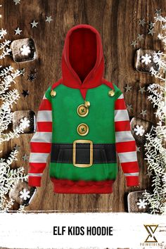 Grab this Elf Kids Hoodie today! Limited time only! Elf, Kids Outfits, Kids Fashion, Hoodies, Sweaters, Jackets, Collection, Down Jackets, Sweatshirts