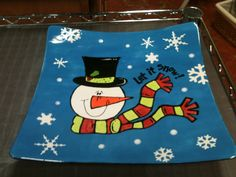 Silly snowman technique platter by Diep Truong and Palee