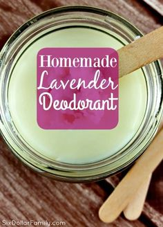 The best DIY projects & DIY ideas and tutorials: sewing, paper craft, DIY. DIY Skin Care Recipes : Ditch your tube and whip up a batch of this homemade lavender deodorant! It's all natural and once you've tried it? Deodorant Recipes, Homemade Deodorant, Natural Deodorant, Homemade Moisturizer, Homemade Soaps, Savon Soap, Lavender Scent, Lavander, Homemade Beauty Products