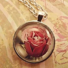 'A Beautiful Rose Pendant Necklace' is going up for auction at  3pm Wed, Oct 10 with a starting bid of $5.