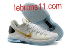 new concept e4b8f 8d825 Cheap KD 5 Low PS White Metallic Gold Pure Platinum 585385 100 are popular  Online