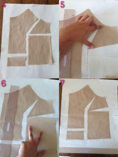 FBA Tutorial & Tips Sewaholic Patterns. Sewing Hacks, Sewing Tutorials, Sewing Crafts, Sewing Projects, Techniques Couture, Sewing Techniques, Pattern Cutting, Pattern Making, Clothing Patterns