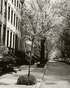 New York City Photography - Black and White West Village Photograph - Urban Decor - Streets - Spring Cityscape - NYC Photo - Wall Art