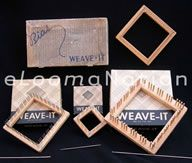 Weave-It Looms - Bias, Rug, Junior and Standard- Tons of information and original instruction sheets for lots of vintage looms. Pin Weaving, Weaving Tools, Loom Weaving, Finger Crochet, Hand Crochet, Yarn Crafts, Diy And Crafts, Potholder Loom, Rug Loom
