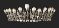 Image Sotheby - Russian imperial fringe tiara topped with pearls,