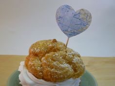 Map Heart Wedding Cupcake Topper Set of 12 by PartyOnArborLane on Etsy