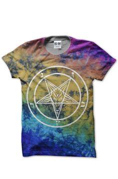 Kill Star Baphomet Tie Dye Men's T-Shirt, also available in Women's. £29.99