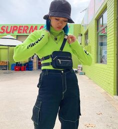 Ideas style clothes hipster tees for 2019 Vintage Dresses For Teens, Vintage Outfits, Vintage Fashion, Grunge Outfits, Hipster Style Outfits, Style Clothes, Neon Green Outfits, Verde Neon, Teen Fashion