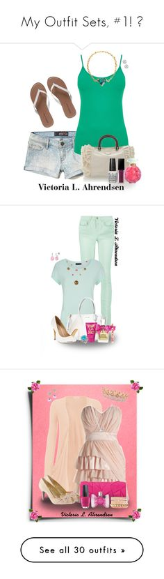 """""""My Outfit Sets, #1! 💕"""" by vahrendsen1988 ❤ liked on Polyvore featuring Hollister Co., Oasis, Modalu, Wet Seal, OPI, Lalique, Smashbox, Accessorize, RED Valentino and Michael Kors"""