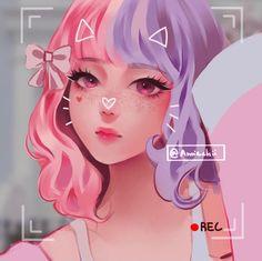 Anime Girl Pink, Anime Girl Cute, Beautiful Anime Girl, Kawaii Anime Girl, Anime Art Girl, Cartoon Girl Images, Cartoon Art Styles, Girl Cartoon, Anime Girl Drawings