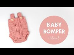 This is an easy free crochet video tutorial and written pattern that will teach you how to crochet a baby romper. Crochet Romper, Crochet Baby Shoes, Crochet Baby Clothes, Crochet For Kids, Easy Crochet, Free Crochet, Romper Tutorial, Baby Romper Pattern, Crochet Videos