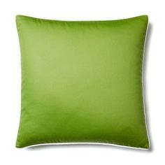 Check out this item at One Kings Lane! Solid 20x20 Cotton Pillow, Green
