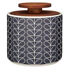 Buy Orla Kiely Linear Stem Storage Jar, Navy, 1L Online at johnlewis.com