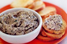 Mushroom Pate with cream cheese and sherry. I also add red peppers. This is delicious. Breaded Mushrooms, Stuffed Mushrooms, Stuffed Peppers, Pate Recipes, Cooking Recipes, Gourmet Recipes, Cooking Tips, Vegetarian Recipes, Shiitake