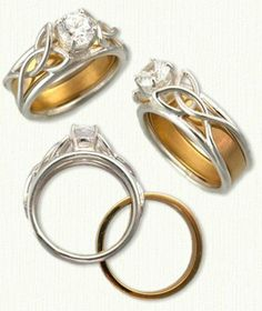 Open Wire Vanessa Knot Reverse Cradle Engagement Rings - just like my engagement ring but with the band inside it