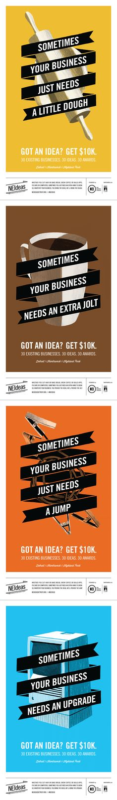 You provide the idea in two-hundred words. We provide the money to make it happen. NEIdeas will award a total of $500,000 through the two types of awards below. Entry for applications opens on May 8th. neideasdetroit.org
