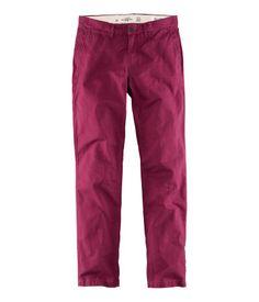 Burgundy Chinos' Pants | H ES