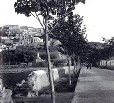 Lo que hoy es la Avenida de Ignaci Wallis en los comienzos del siglo XX. www.ibizadiscover.com