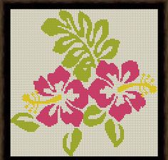 Hibiscus Cross Stitch Pattern PDF Instant Download by HeritageStitch on Etsy