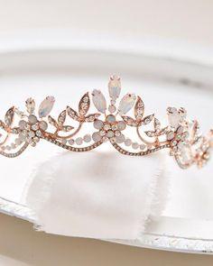 Opal & Crystal Bridal Tiara, Opal Wedding Headpiece, Crystal and Opal Bridal Crown, Wedding Tiara, B Bridal Crown, Bridal Tiara, Wedding Veils, Bridal Headpieces, Wedding Hair, Bridal Updo, Wedding Bride, Hair Jewelry, Wedding Jewelry