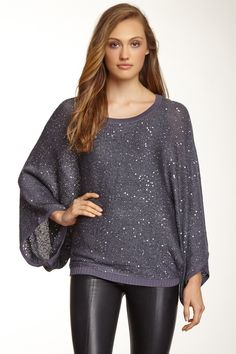 Dolce Cabo Sequin Dolman Sleeve Sweater by Dolce Cabo on @HauteLook