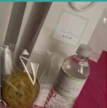 Customized water bottle labels and gift bag packaging by New England Invitations