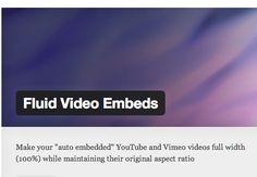 Make WP embedded videos responsive