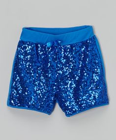 Look at this #zulilyfind! Royal Blue Sequin Shorts - Infant, Toddler & Girls #zulilyfinds