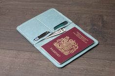 Leather Passport Cover / Passport Wallet / by khadesign on Etsy