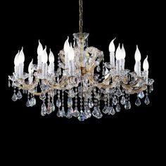 VE 974/12 chandelier by Ottocento #modern #lighting #chandelier #crystal #gold