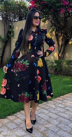 Checkout this latest Dresses Product Name: *Fancy Fashionista Women Dresses* Fabric: Polycotton Sleeve Length: Long Sleeves Pattern: Printed Multipack: 1 Sizes: S (Bust Size: 36 in, Length Size: 41 in)  M (Bust Size: 38 in, Length Size: 41 in)  L (Bust Size: 40 in, Length Size: 41 in)  XL (Bust Size: 42 in, Length Size: 41 in)  XXL (Bust Size: 44 in, Length Size: 41 in)  Country of Origin: India Easy Returns Available In Case Of Any Issue   Catalog Rating: ★4 (975)  Catalog Name: Classy Fashionista Women Dresses CatalogID_3872019 C79-SC1025 Code: 694-18910619-9051