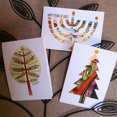 Love these #holiday cards from Susie Lubell!!  Combo Pack of Mini Holiday Cards - SHIPS FREE. $20.00, via Etsy.