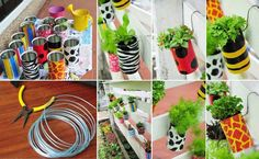How to DIY Garden Planters with Recycled Cans