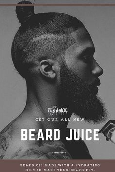 Get our all new beard oil made for our fly guys! Make your beard look fly and healthy with our 4 hydrating oils with warm vanilla notes. African American Braids, African American Makeup, African American Hairstyles, African American Women, Beard Look, Sexy Beard, Old School Haircuts, American Guy, American History