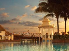 Sunset wedding ceremony, Now Sapphire Riviera Cancun, Mexico