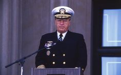ADM Trost speaks at the dedication of the Navy Memorial - October 13, 1987