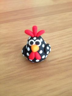 Rooster polymer clay figurines set of 2 by Whimsybydesign1 on Etsy