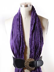 We need this during the winter months to keep us warm at the office!  how to tie scarves x50