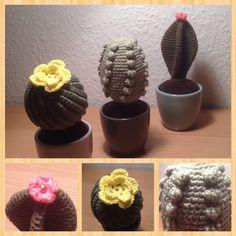 Hæklede kaktusser til Ellas værelse, potter fra #søstrenegrene #gaverernogetmanlaver #kroezedezign #hækling #crochet, december 2016