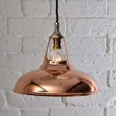 True to Artifact Lighting's commitment to build quality, these shades were built and designed for use in industries. These are still made today.Price includes everything you need:1 x Copper shade (28cm diameter; 17.5cm height)1 x 60w Edison dimable filament bulb (bayonet)1 x Bayonet fixture1 x Ceiling Rose (pictured)1 x Braided flex cable Price is subject VAT