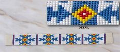 free native american beadwork loom patterns | Based on a Native American pattern,9 1/2 inches,modern Czech 11 beads,