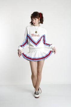 Cheer Leader Uniform Vintage Sweater & Skirt 2pc by VeraVague