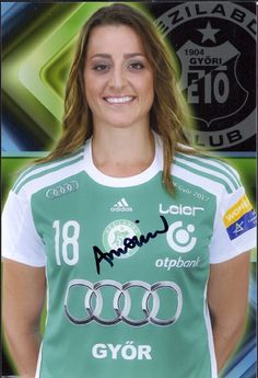 Gyori Audi ETO KC Eduarda Amorin autograph (Netherlands National Handball Team, 2014 IHF World Player of the Year) Adidas, Sports Women, Audi, Football, Female, Tops, Netherlands, Life, Fashion